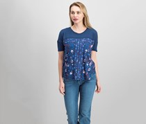 Lucky Brand Floral-Print T-Shirt, American Navy