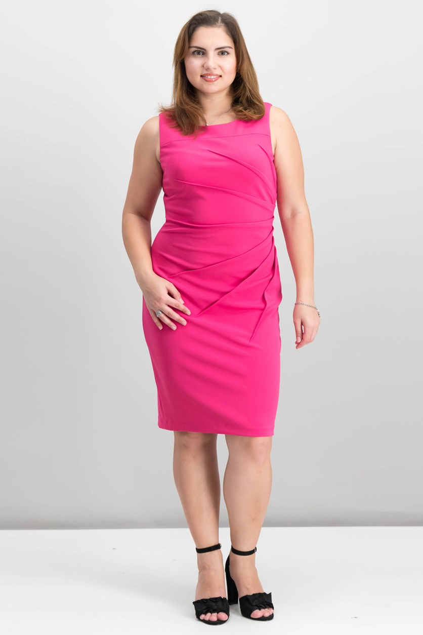 Women's Sunburst Sheath Dress, Pink