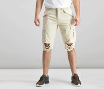 Guess Men's Destroyed Cargo Shorts, Sand Washed