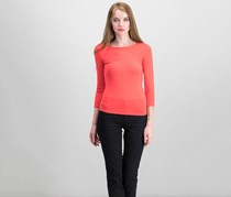 GUESS Gillian 34-Sleeve Lace-Up Top, Red Lava