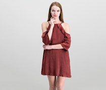 Be Bop Juniors Cold-shoulder Shift Dress, Merlot