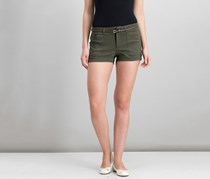 Be Bop Juniors Belted Cactus-Charm Short, Olive