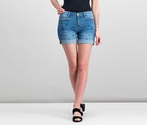 Tommy Hilfiger Women's Embroidered Denim Shorts, Sea Breeze Anchors