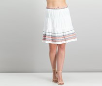 Tommy Hilfiger Cotton Embroidered Skirt, Ivory