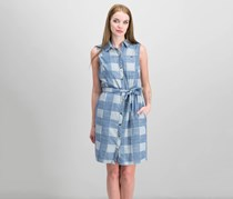 Tommy Hilfiger Cotton Sleeveless Shirtdress, Indigo Multi