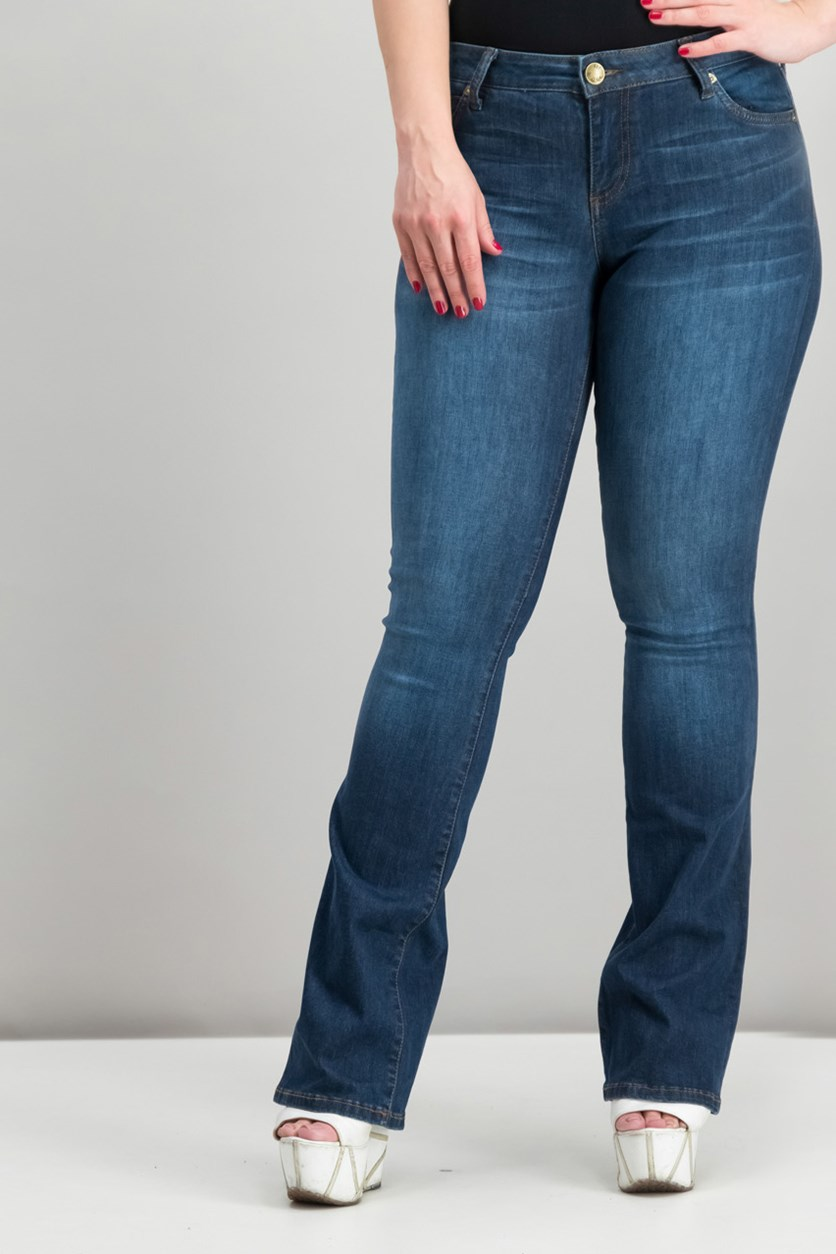 Natalie Curvy-Fit Bootcut Jeans, Admiration Wash