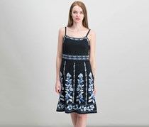 INC Embroidered A-Line Dress, Blossoming Lanes