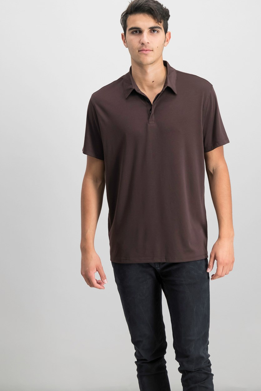 Mens Soft Touch Stretch Polo, Valhrona