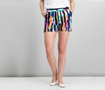 INC International Concepts Print Shorts, Ikat Herringbone
