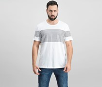 Inc Men's Introspection Striped T-Shirt, White