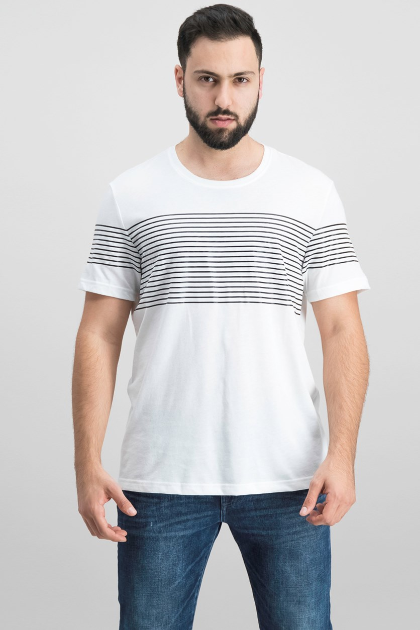 Men's Introspection Striped T-Shirt, White