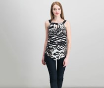 International Concepts Animal-Print Halter Top, Animal Mosaic