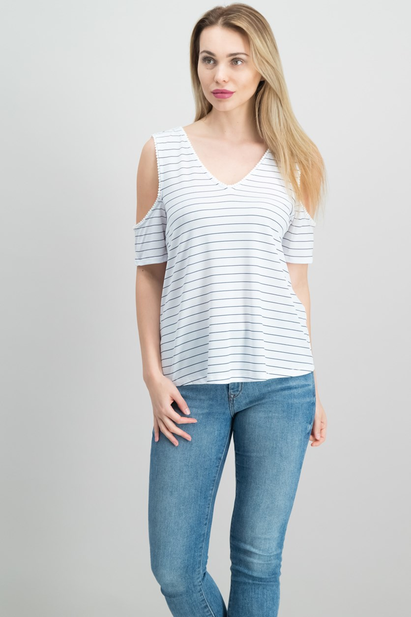Off-The-Shoulder Crisscross Top, Bright White