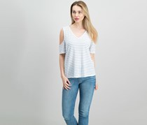 Maison Jules Off-The-Shoulder Crisscross Top, Bright White