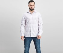 The Men's Store Plaid Regular Fit Button Down Shirt, Pink Combo
