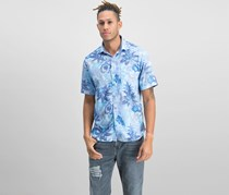 Tommy Bahama Men's Fuego Floral-Print Shirt, Blue