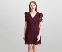 Donna Morgan Lace Embroidered Dress, Merlot