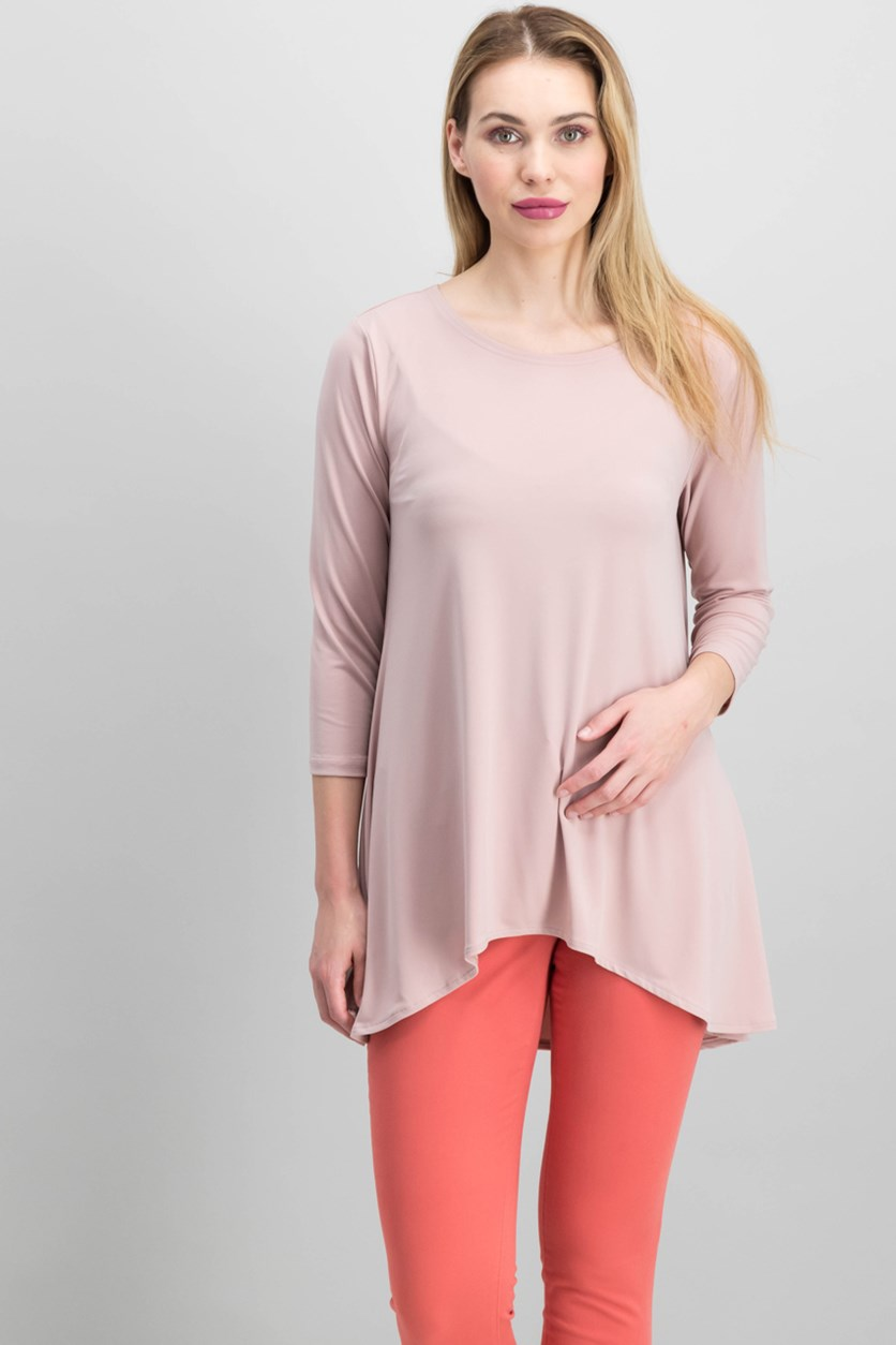 Women's Jersey High-Low Tunic, Pottery Clay