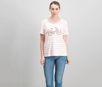 Karen Scott Bicycle Graphic-Print T-Shirt, Peony Coral