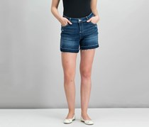 INC International Concepts Denim Released-Hem Shorts, Indigo