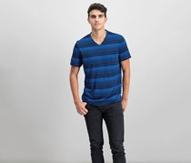 Men's Striped T-Shirt, Neo Navy