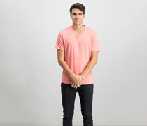 Mens Travel Stretch T-Shirt, Pink Guava
