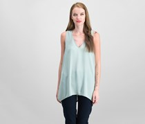 INC Handkerchief-Hem Top, Antique Sage