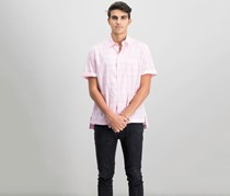 DKNY Mens Space Dyed Shirt, Baby Pink Space