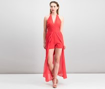 Xoxo Juniors Halter Romper With High Risk, Red