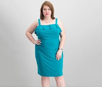 American Living Women's Cold Shoulder Dress, Turquoise