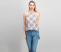 Necessary Objects Lace Top, Pink