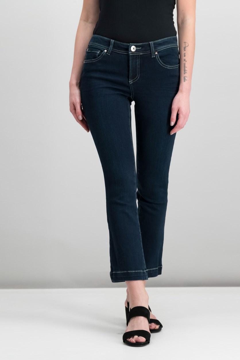 International Concepts Petite Bootcut Jeans, Orion Wash