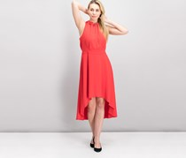 Laundry By Shelli Segal Women's Ruffled High-Low Dress, Red