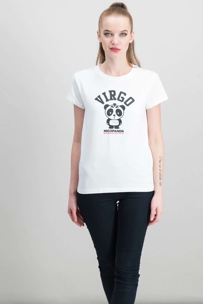 Zodiac Graphic-Print T-Shirt, White