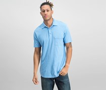 Goodlife Men's Regular Fit Short Sleeve Polo Shirt, Blue