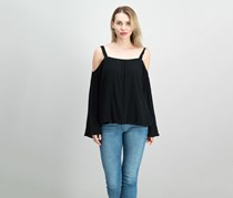 Sanctuary Melody Cold-Shoulder Top, Black