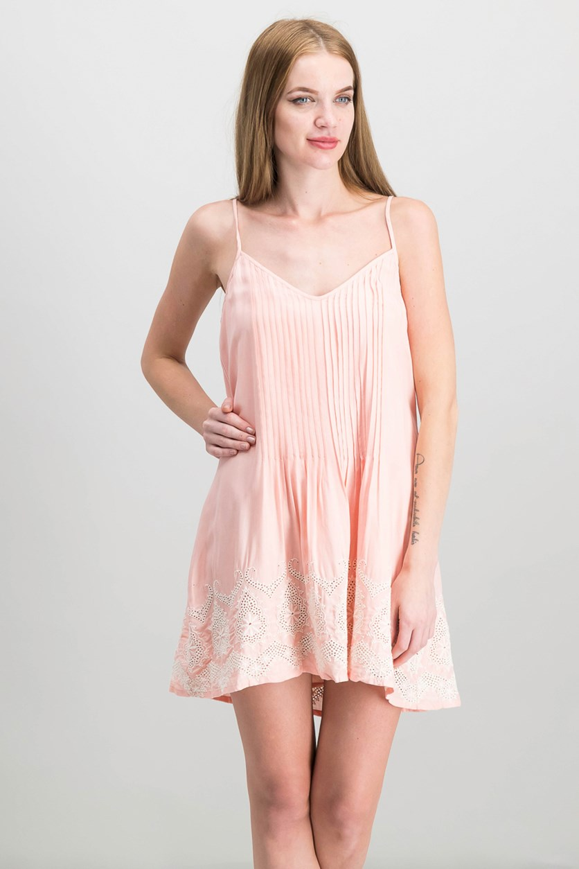 Reese Embroidered Slip Dress, Blossom