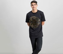 Hudson NYC Mens Bitcoin Embossed T-Shirt, Black