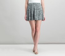 Inspired Heart  Women's Flared Pull-on Skirt, Charcoal