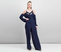 The Edit By Seventeen Juniors Jumpsuit, Navy