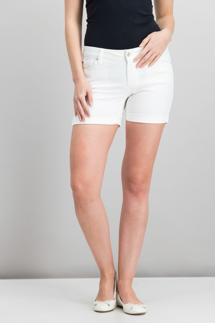 Juniors Cuffed Shorts, White
