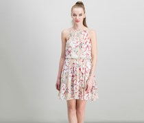 Women's Lush Floral Dress, Taupe
