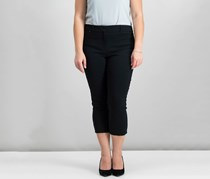 Style & Co Straight-Leg Capri Pants, Deep Black