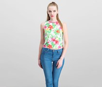 The Edit By Seventeen Printed Crop Tank Top, Tropical