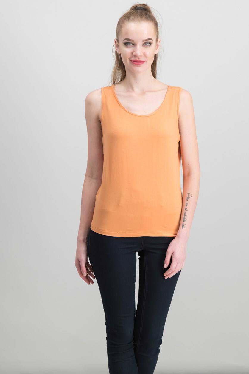 Women's  Scoop-neck Petite Cami Top, Orange