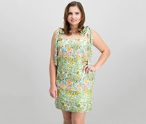 Rachel Roy Women's Embroidered Floral Mini Dress, Green Combo