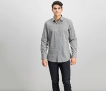 Moschino Men's Checkered Shirt, Dark Gray