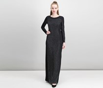 Calvin Klein Studded Column Gown, Black