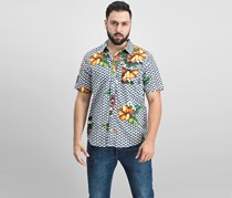 Lrg Men's Descendent Floral-Print Shirt, Black/Green Combo