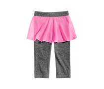 Ideology Girl's Skirt Capri Leggings, Grey/Pink